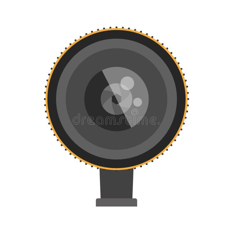 Vectorillustratie van de foto de optische lens stock illustratie