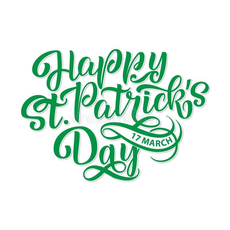 Vectorillustratie van de Gelukkige Dag van Heilige Patrick s logotype De hand schetste Iers vieringsontwerp Bierfestival het van  vector illustratie