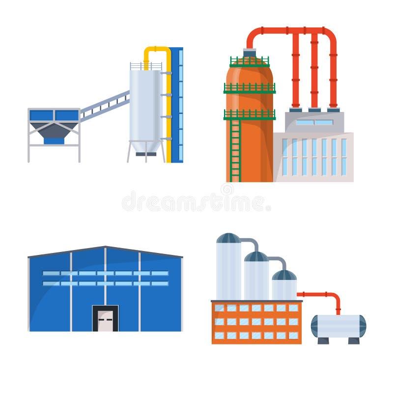 Vectorillustratie van de industrie en de bouwembleem Reeks van de industrie en bouwvoorraad vectorillustratie vector illustratie