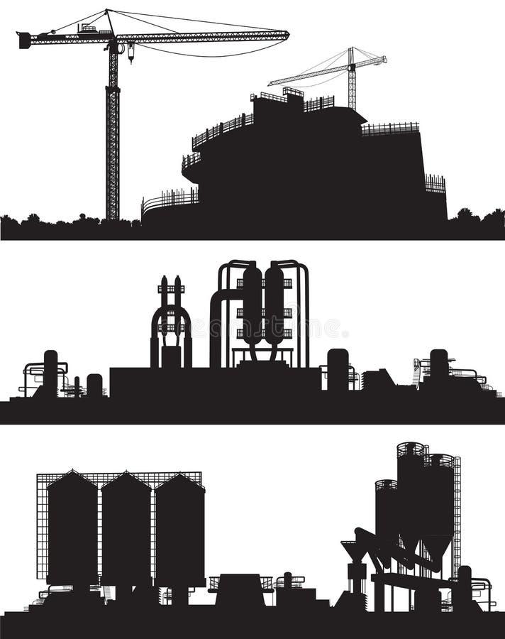 Vectorillustratie van de industriegebied royalty-vrije illustratie