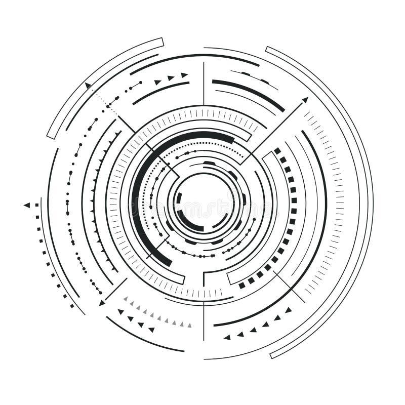 Vectorillustratie van de interface de Futuristische Schets stock illustratie
