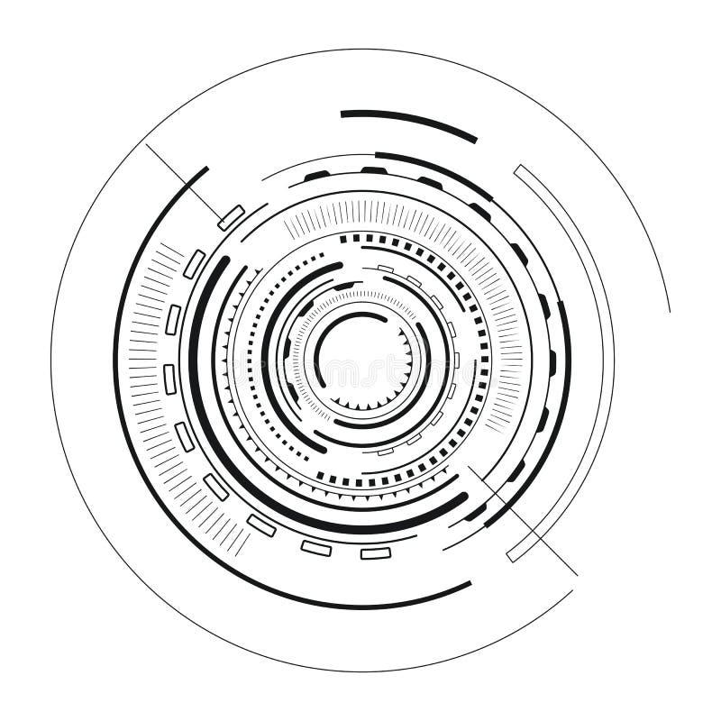 Vectorillustratie van de interface de Futuristische Schets royalty-vrije illustratie