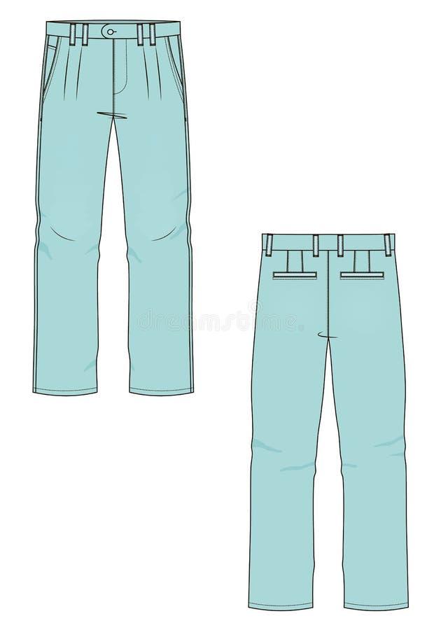 Vectorillustratie van de jeans van mensen Voorzijde en Rug royalty-vrije illustratie