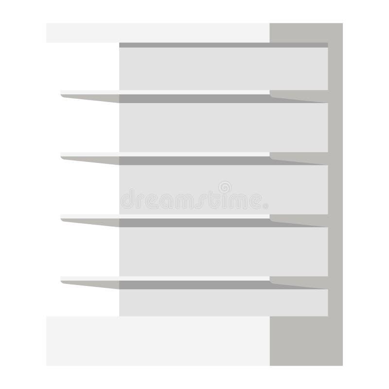 Vectorillustratie van de lege planken van de supermarktdetailhandel vector illustratie