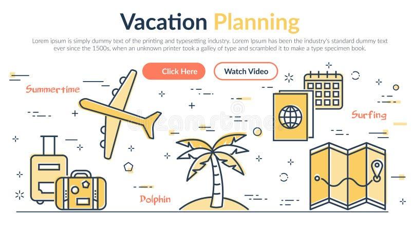 Vectorillustratie van de Planning van kopbalvacantion stock illustratie