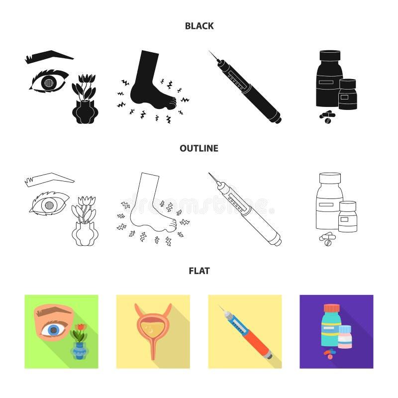 Vectorillustratie van dieet en behandelingspictogram Inzameling van dieet en geneeskunde vectorpictogram voor voorraad vector illustratie