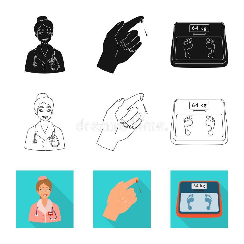 Vectorillustratie van dieet en behandelingspictogram Inzameling van dieet en geneeskunde vectorpictogram voor voorraad royalty-vrije illustratie
