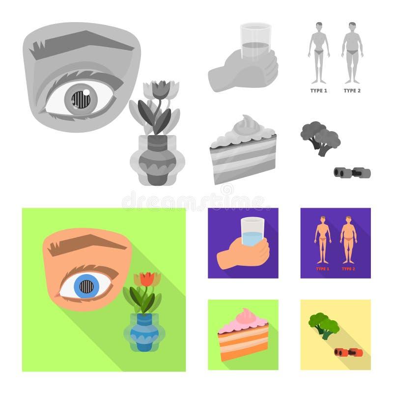 Vectorillustratie van dieet en behandelingspictogram Reeks van dieet en het symbool van de geneeskundevoorraad voor Web stock illustratie