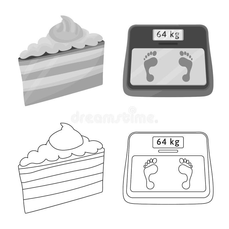 Vectorillustratie van dieet en behandelingsteken Inzameling van dieet en de vectorillustratie van de geneeskundevoorraad vector illustratie
