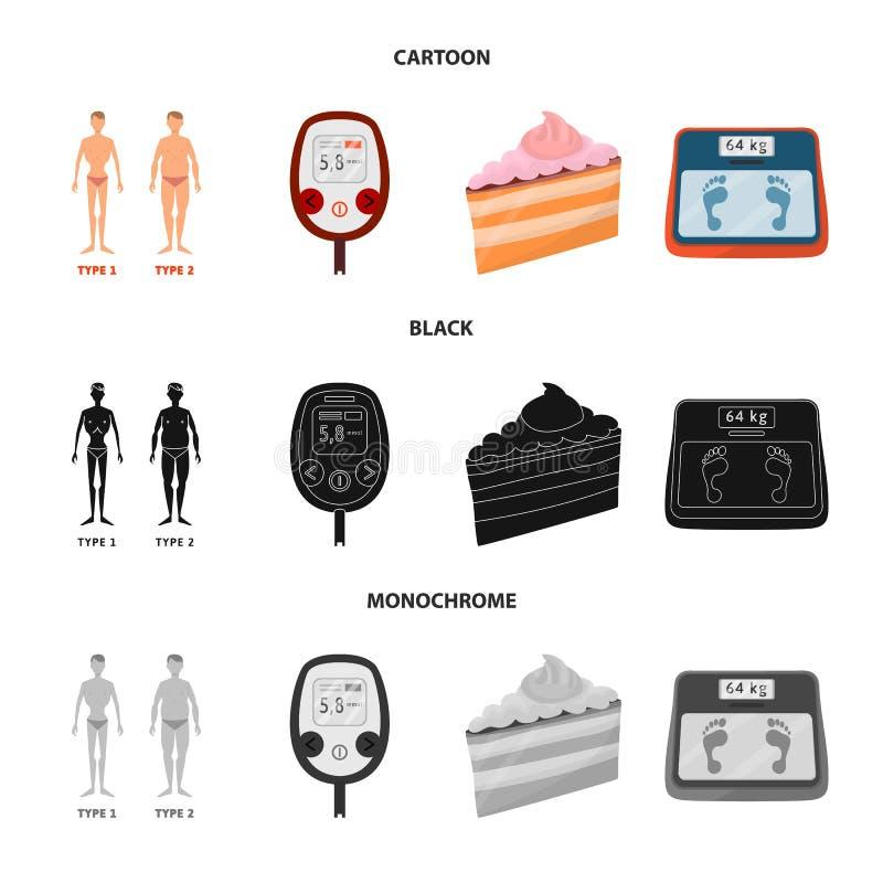Vectorillustratie van dieet en behandelingsteken Inzameling van dieet en geneeskunde vectorpictogram voor voorraad vector illustratie