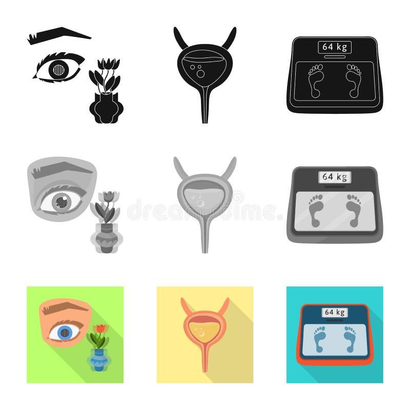 Vectorillustratie van dieet en behandelingsteken Reeks van dieet en het symbool van de geneeskundevoorraad voor Web vector illustratie