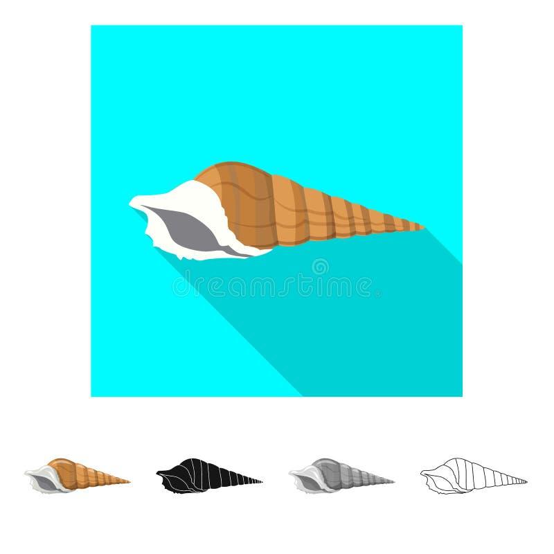 Vectorillustratie van dier en decoratieembleem Inzameling van dierlijk en oceaanvoorraadsymbool voor Web royalty-vrije illustratie