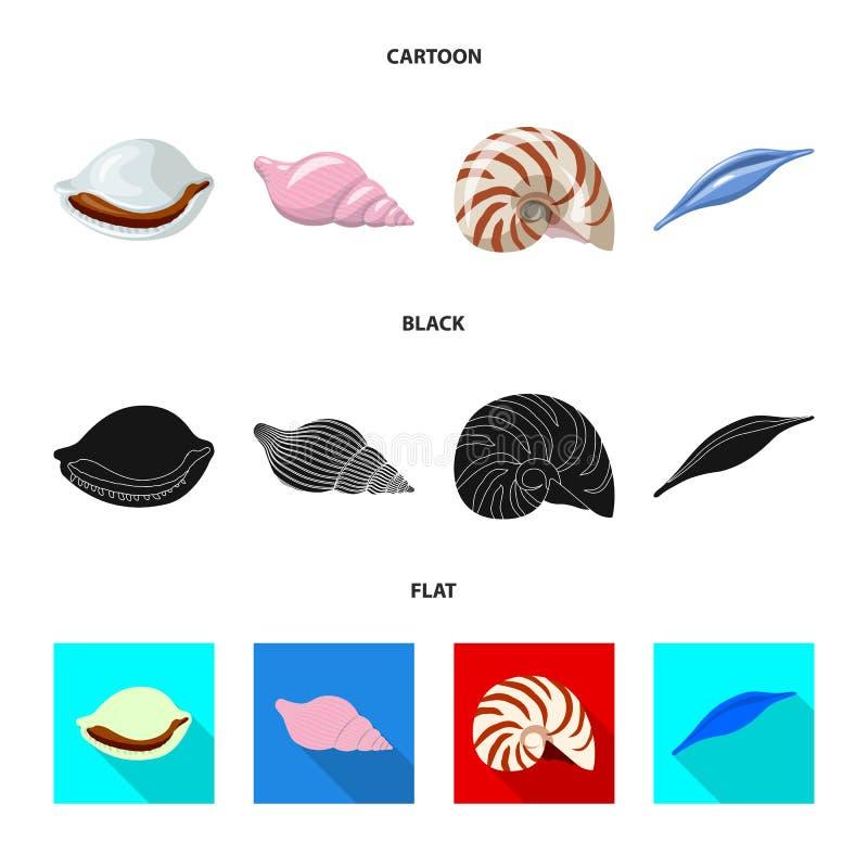 Vectorillustratie van dier en decoratiepictogram Reeks van dierlijke en oceaanvoorraad vectorillustratie royalty-vrije illustratie