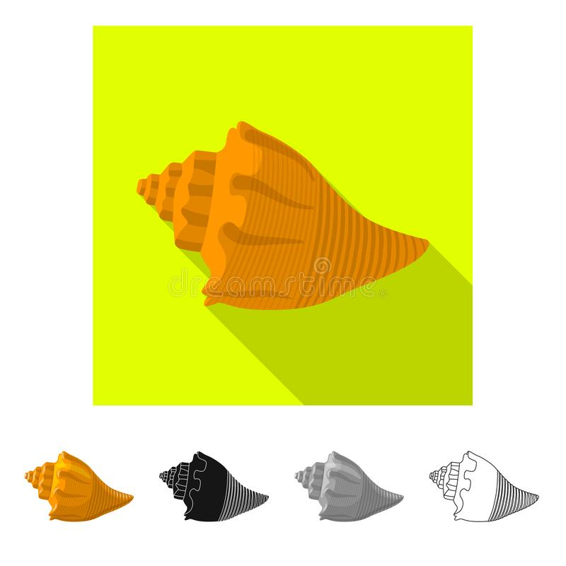 Vectorillustratie van dier en decoratieteken Reeks van dierlijke en oceaanvoorraad vectorillustratie vector illustratie