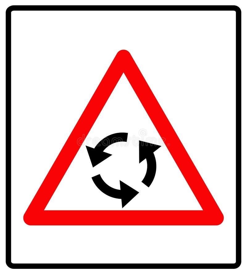 Vectorillustratie van driehoeksverkeersteken voor rotonde vector illustratie