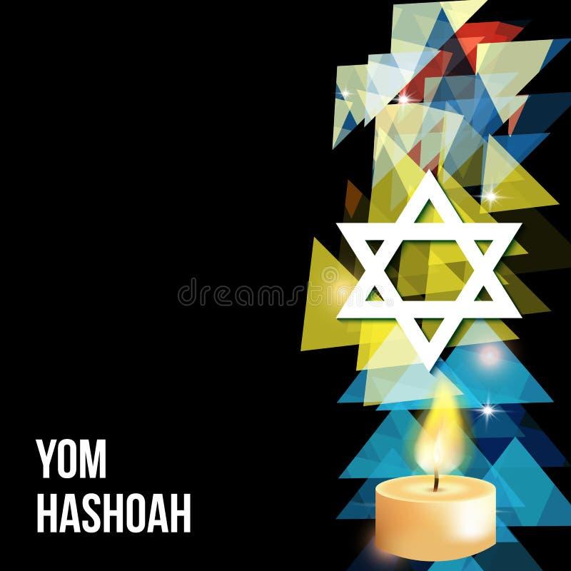 Vectorillustratie van een achtergrond voor Yom Hashoah - herinneringsdag vector illustratie