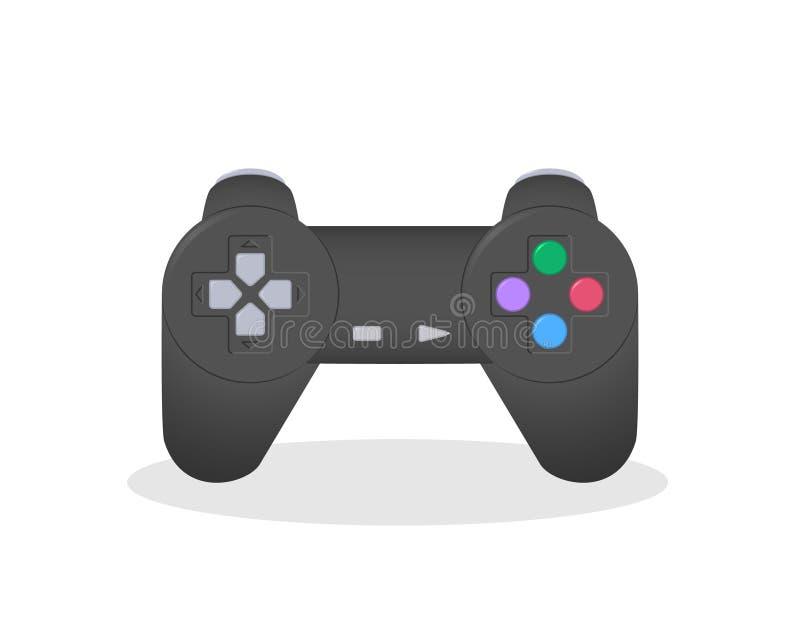 Vectorillustratie van een beroemde bedieningshendel van de spelconsole Populaire oude videospelletjemanipulator vector illustratie