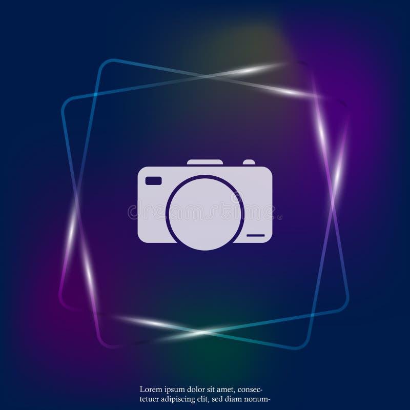 Vectorillustratie van een digitale camera  royalty-vrije illustratie