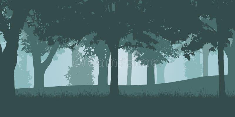 Vectorillustratie van een groen vergankelijk bos vector illustratie
