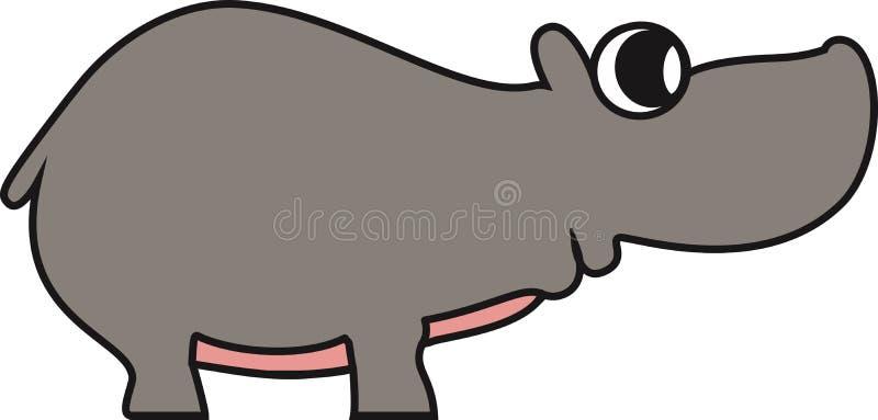 Vectorillustratie van een hippo stock illustratie
