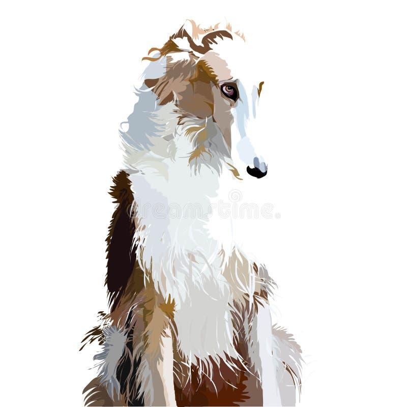 Vectorillustratie van een hond royalty-vrije illustratie