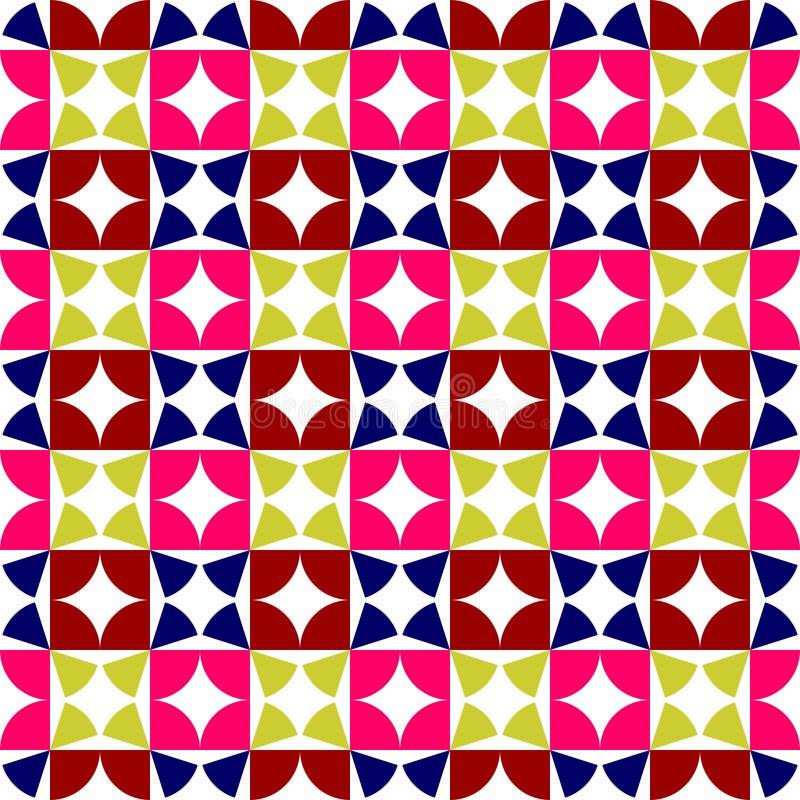 Vectorillustratie van een naadloos het herhalen patroon van gekleurd Modern, grayscale vector illustratie