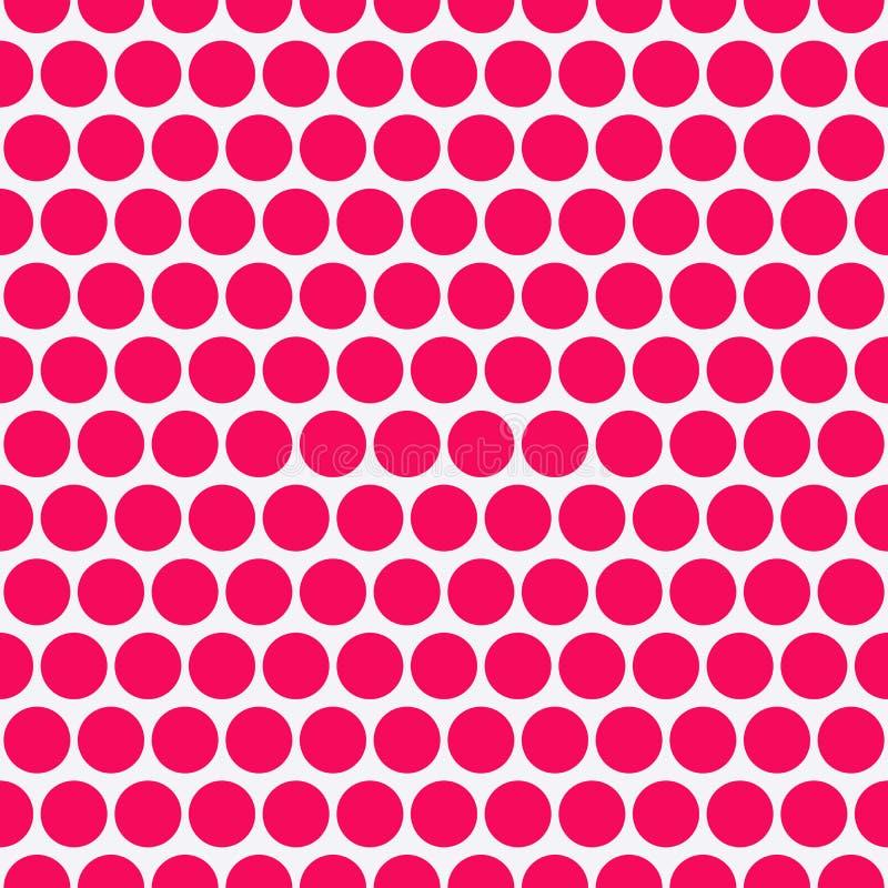 Vectorillustratie van een naadloos patroon van cirkels stock illustratie
