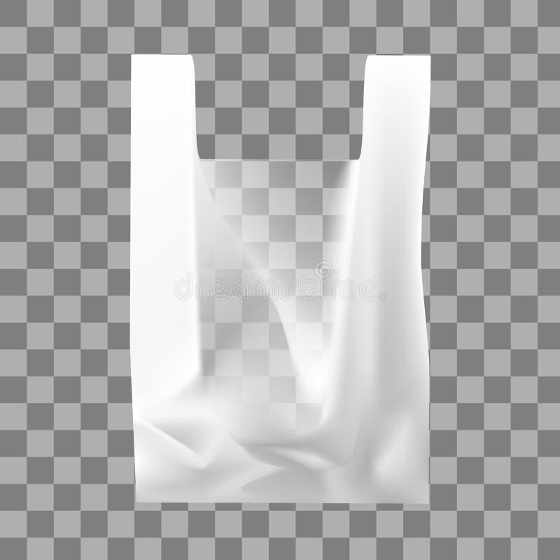 Vectorillustratie van een plastic transparante zak royalty-vrije illustratie