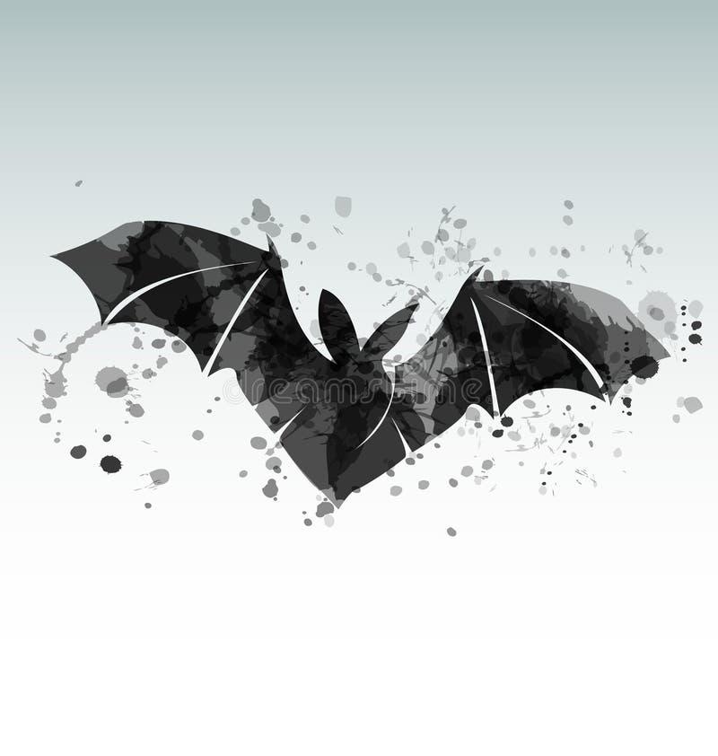 Vectorillustratie van een vliegende knuppel stock illustratie