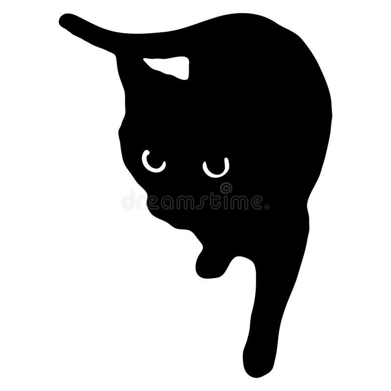 Vectorillustratie van een zwarte kat royalty-vrije illustratie