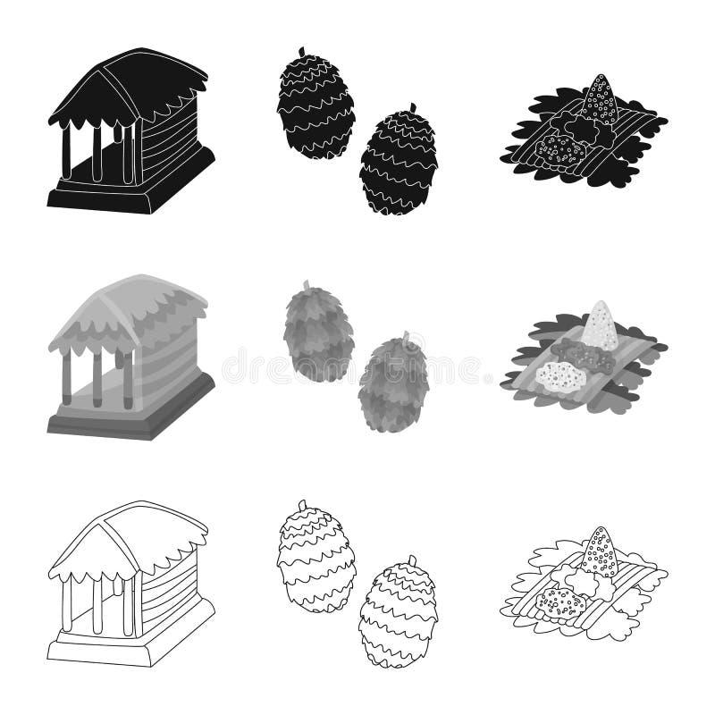Vectorillustratie van en reisembleem Inzameling van en traditioneel vectorpictogram voor voorraad stock illustratie