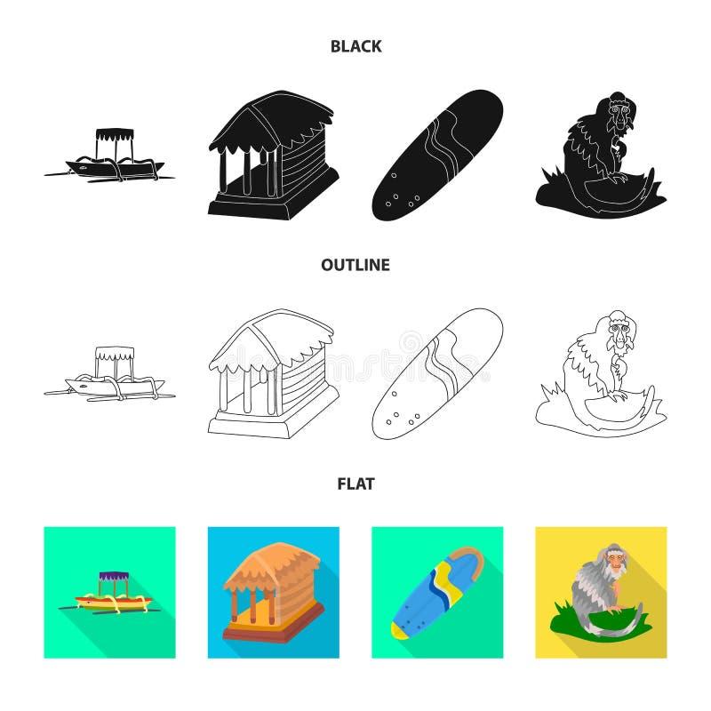 Vectorillustratie van en reisembleem Inzameling van en traditioneel voorraadsymbool voor Web vector illustratie