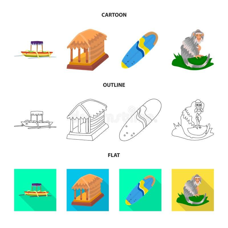 Vectorillustratie van en reisembleem Reeks van en traditionele voorraad vectorillustratie stock illustratie