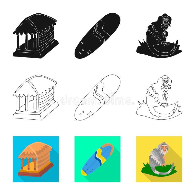 Vectorillustratie van en reissymbool Inzameling van en traditionele voorraad vectorillustratie vector illustratie