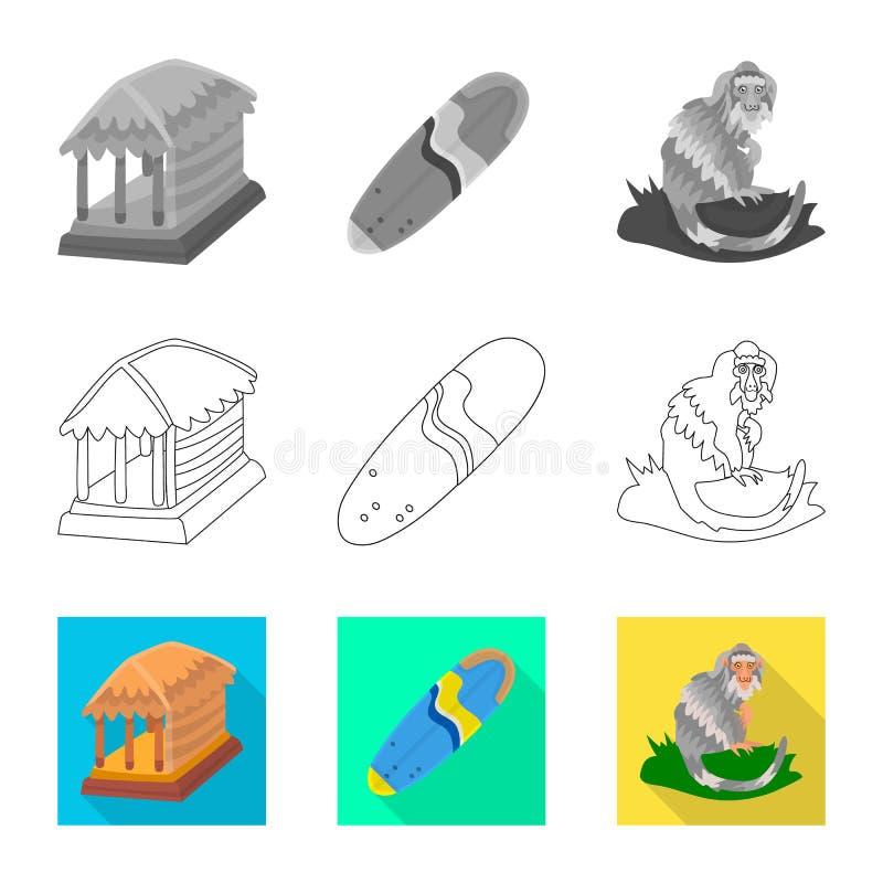 Vectorillustratie van en reissymbool Reeks van en traditioneel voorraadsymbool voor Web stock illustratie