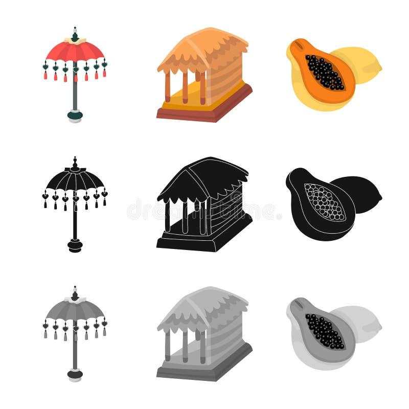 Vectorillustratie van en reisteken Inzameling van en traditioneel voorraadsymbool voor Web stock illustratie
