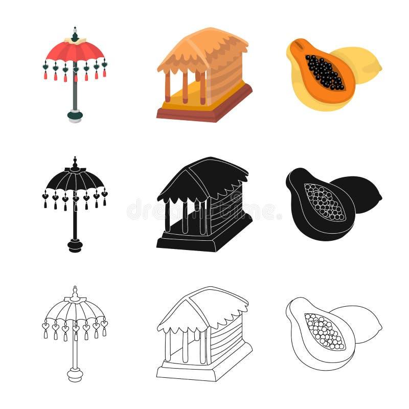 Vectorillustratie van en reisteken Reeks van en traditionele voorraad vectorillustratie royalty-vrije illustratie