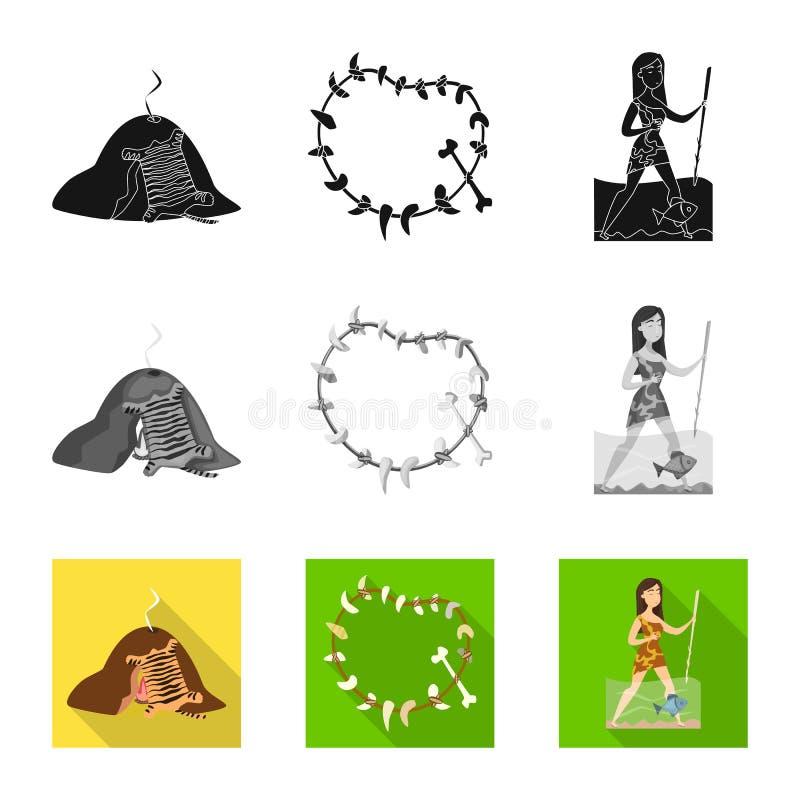 Vectorillustratie van evolutie en voorgeschiedenisembleem Reeks van evolutie en ontwikkelings vectorpictogram voor voorraad stock illustratie