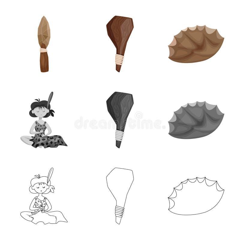 Vectorillustratie van evolutie en voorgeschiedenispictogram Reeks van evolutie en ontwikkelings vectorpictogram voor voorraad royalty-vrije illustratie