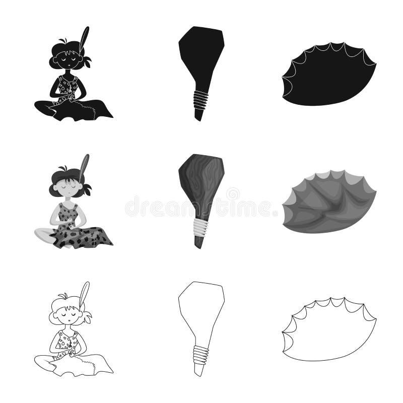 Vectorillustratie van evolutie en voorgeschiedenissymbool Inzameling van evolutie en ontwikkelingsvoorraadsymbool voor Web vector illustratie