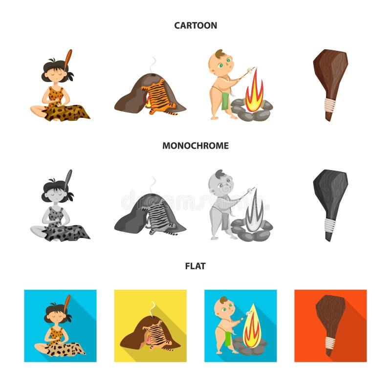 Vectorillustratie van evolutie en voorgeschiedenissymbool Reeks van evolutie en ontwikkelingsvoorraadsymbool voor Web royalty-vrije illustratie