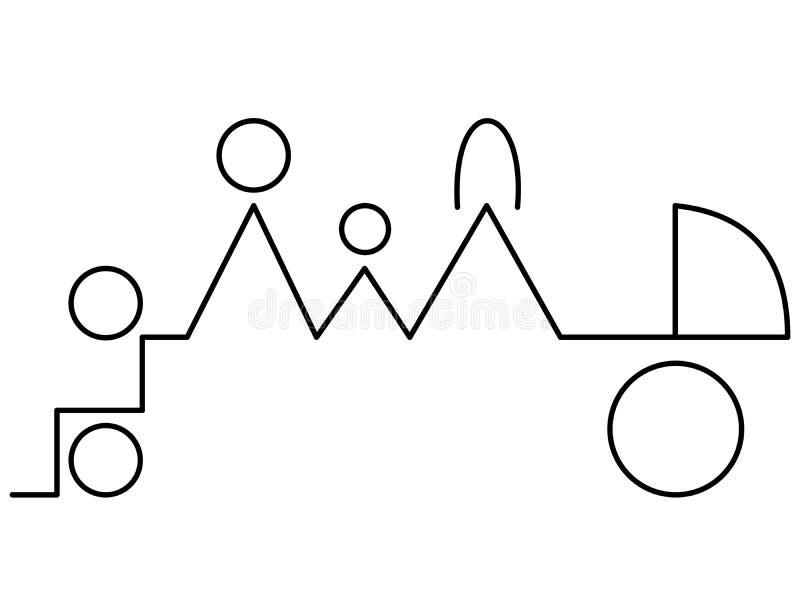 Vectorillustratie van familie stock foto