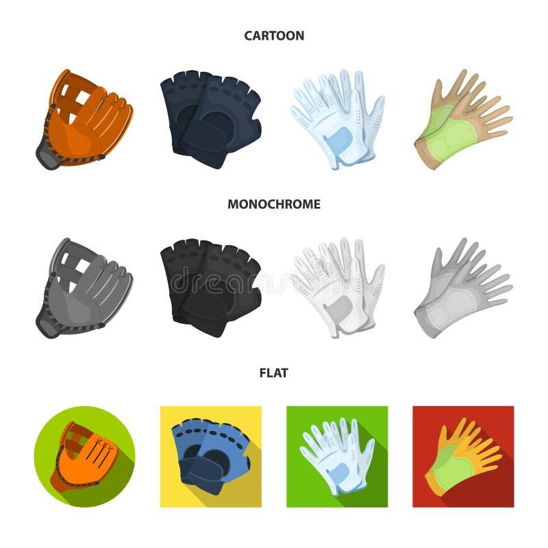 Vectorillustratie van gebreid en bewaardersembleem Inzameling van gebreid en hand vectorpictogram voor voorraad vector illustratie