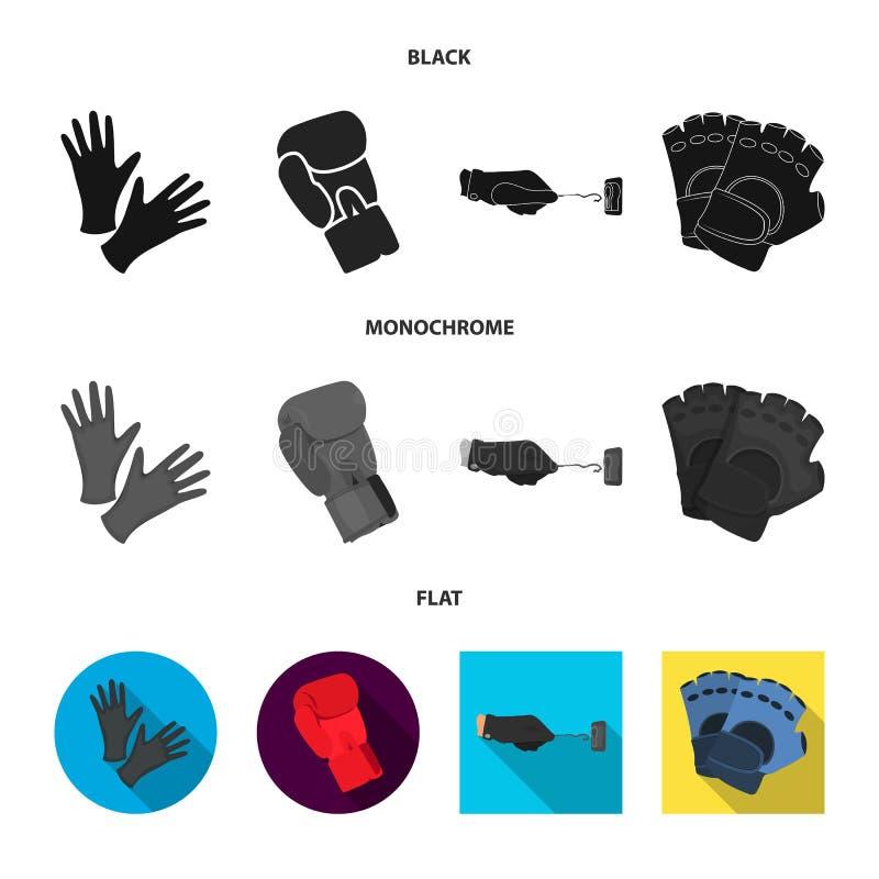 Vectorillustratie van gebreid en bewaardersembleem Reeks van het gebreide en symbool van de handvoorraad voor Web stock illustratie
