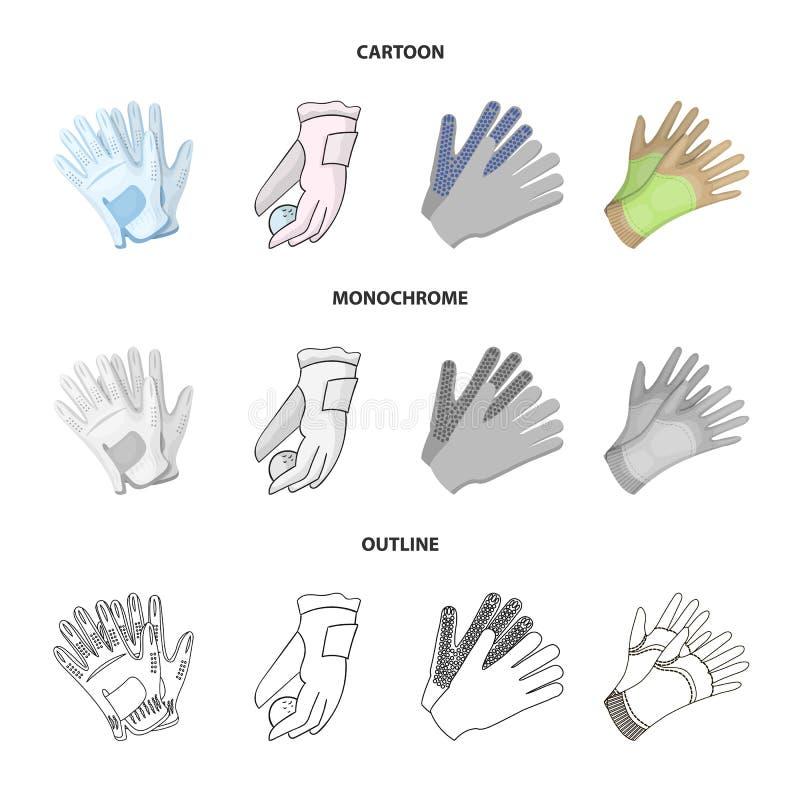 Vectorillustratie van gebreid en bewaarderspictogram Inzameling van de gebreide en vectorillustratie van de handvoorraad royalty-vrije illustratie