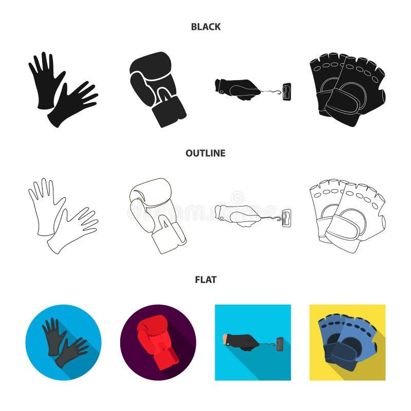 Vectorillustratie van gebreid en bewaarderspictogram Reeks van de gebreide en vectorillustratie van de handvoorraad royalty-vrije illustratie