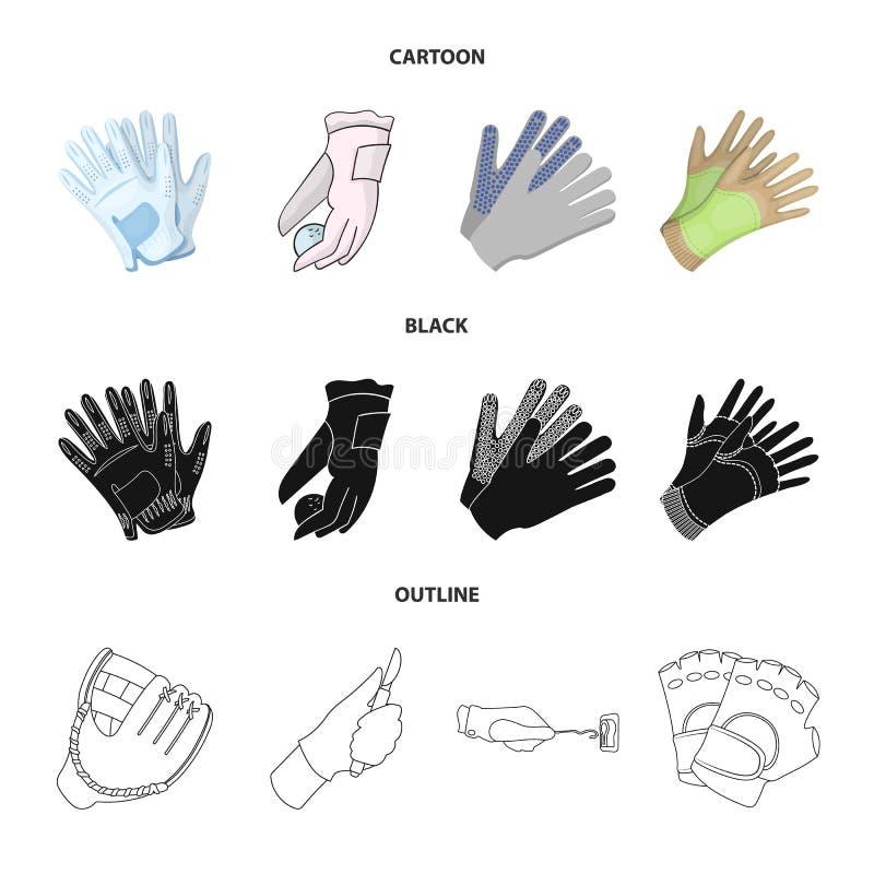 Vectorillustratie van gebreid en bewaarderssymbool Reeks van het gebreide en symbool van de handvoorraad voor Web royalty-vrije illustratie