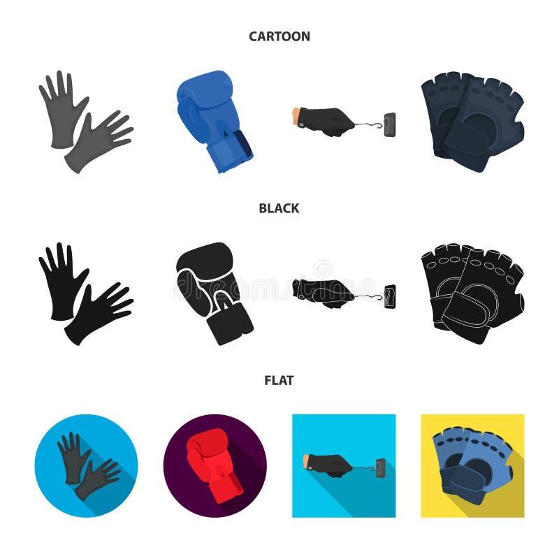 Vectorillustratie van gebreid en bewaarderssymbool Reeks van het gebreide en symbool van de handvoorraad voor Web vector illustratie