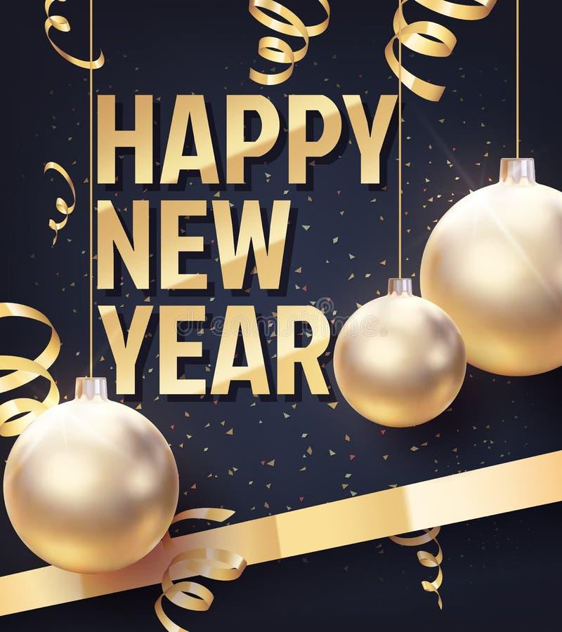 Vectorillustratie van Gelukkig Nieuwjaar vector illustratie