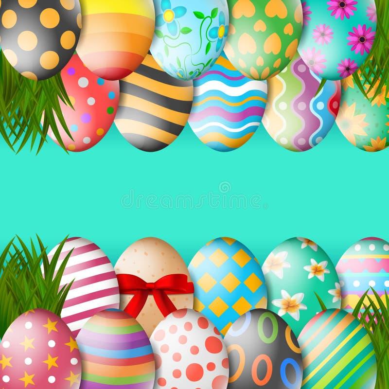 Vectorillustratie van Gelukkige Pasen-Vakantie royalty-vrije stock foto's